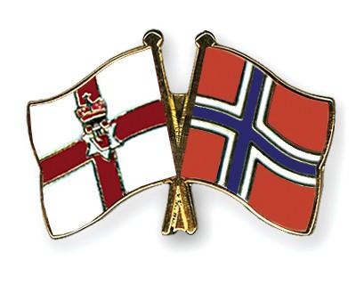 Crossed Flag Pins Northern-Ireland-Norway