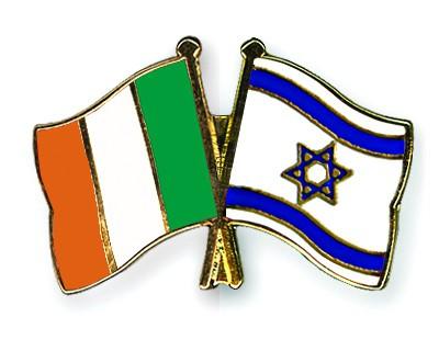 Crossed Flag Pins Ireland-Israel