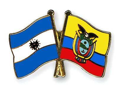 Crossed Flag Pins El-Salvador-Ecuador