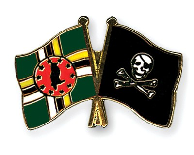 Crossed Flag Pins Dominica-Pirate-with-Bone