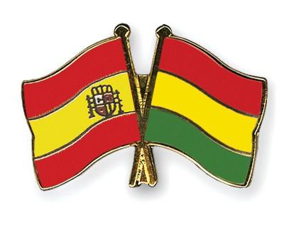 Crossed Flag Pins Spain-Bolivia