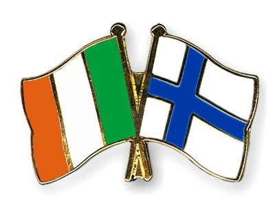 Special Offer Crossed Flag Pins Ireland-Finland