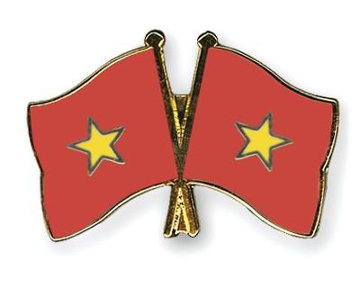 Crossed Flag Pins Vietnam-Vietnam