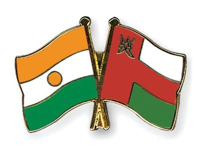 Crossed Flag Pins Niger-Oman