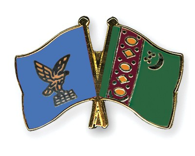 Crossed Flag Pins Friuli-Venezia-Giulia-Turkmenistan