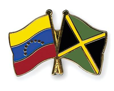 Crossed Flag Pins Venezuela-Jamaica