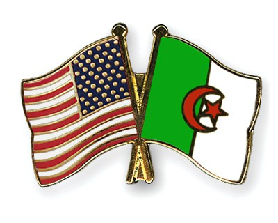 Special Offer Crossed Flag Pins USA-Algeria