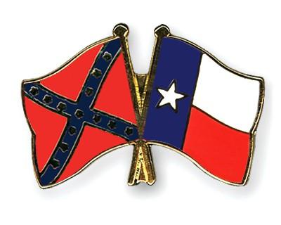 Crossed Flag Pins Confederate-battle-Texas