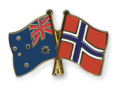 Special Offer Crossed Flag Pins Australia-Norway