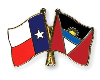Crossed Flag Pins Texas-Antigua-and-Barbuda
