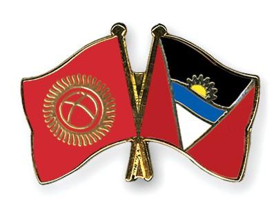 Crossed Flag Pins Kyrgyzstan-Antigua-and-Barbuda
