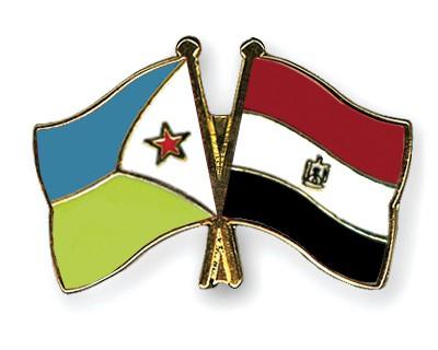 Crossed Flag Pins Djibouti-Egypt
