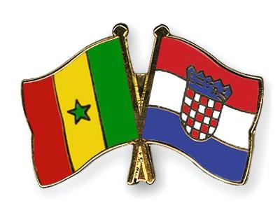 Crossed Flag Pins Senegal-Croatia