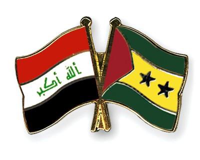 Crossed Flag Pins Iraq-Sao-Tome-and-Principe