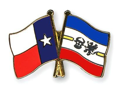 Crossed Flag Pins Texas-Mecklenburg-Western-Pomerania