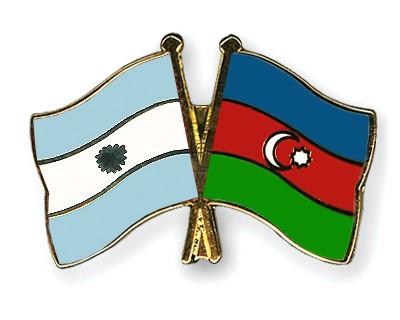 Crossed Flag Pins Argentina-Azerbaijan