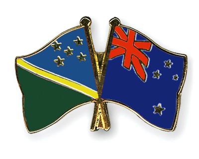 Crossed Flag Pins Solomon-Islands-New-Zealand