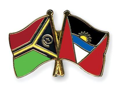 Crossed Flag Pins Vanuatu-Antigua-and-Barbuda