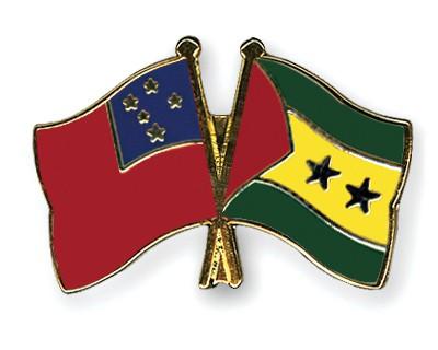 Crossed Flag Pins Samoa-Sao-Tome-and-Principe