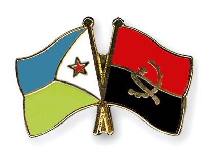 Crossed Flag Pins Djibouti-Angola