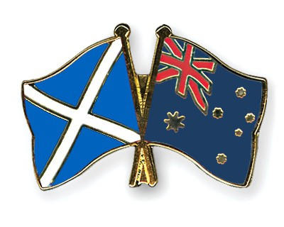 Special Offer Crossed Flag Pins Scotland-Australia
