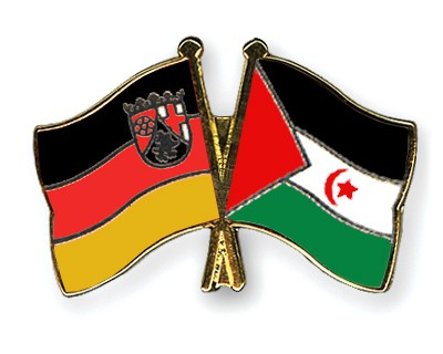 Special Offer Crossed Flag Pins Rhineland-Palatinate-Western-Sahara