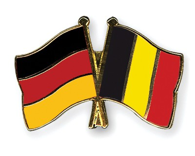 Crossed Flag Pins Germany-Belgium