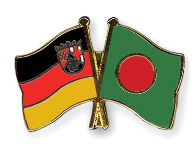 Crossed Flag Pins Rhineland-Palatinate-Bangladesh