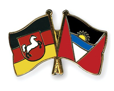 Crossed Flag Pins Lower-Saxony-Antigua-and-Barbuda