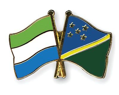 Crossed Flag Pins Sierra-Leone-Solomon-Islands