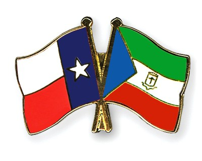 Crossed Flag Pins Texas-Equatorial-Guinea