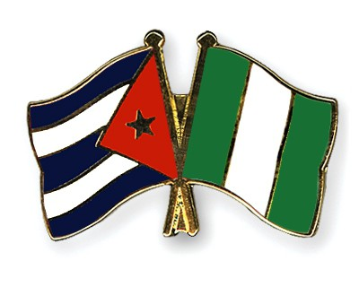 Crossed Flag Pins Cuba-Nigeria