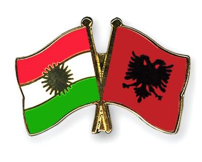 Crossed Flag Pins Kurdistan-Albania