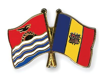 Crossed Flag Pins Kiribati-Andorra