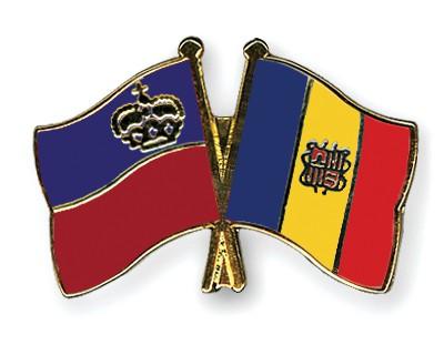 Crossed Flag Pins Liechtenstein-Andorra