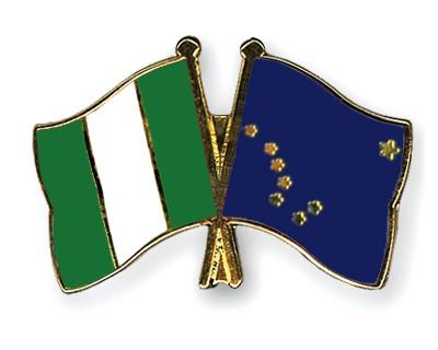 Crossed Flag Pins Nigeria-Alaska