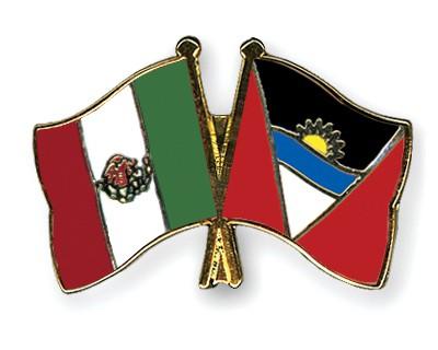 Crossed Flag Pins Mexico-Antigua-and-Barbuda
