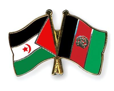 Crossed Flag Pins Western-Sahara-Afghanistan