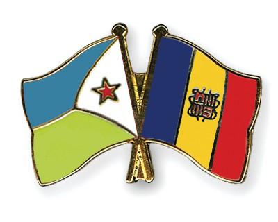 Crossed Flag Pins Djibouti-Andorra