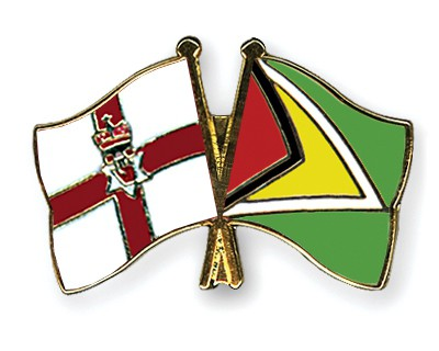 Crossed Flag Pins Northern-Ireland-Guyana