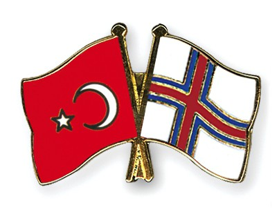Crossed Flag Pins Turkey-Faeroe-Islands