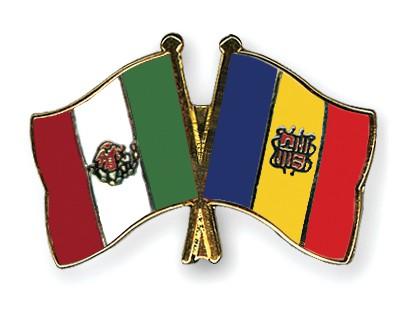 Crossed Flag Pins Mexico-Andorra