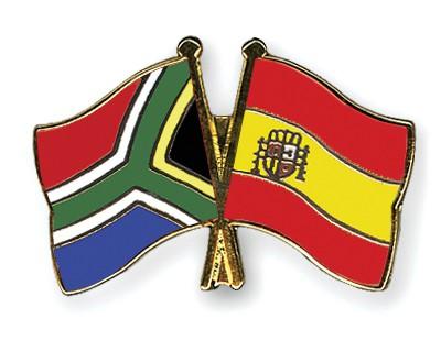 Crossed Flag Pins South-Africa-Spain