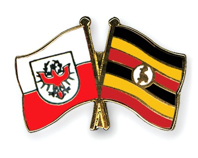 Crossed Flag Pins Tyrol-Uganda