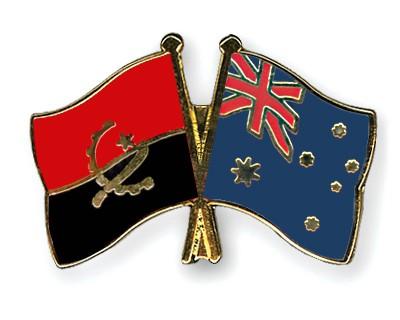 Crossed Flag Pins Angola-Australia