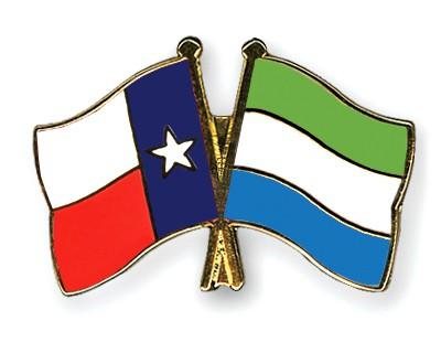 Crossed Flag Pins Texas-Sierra-Leone