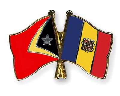 Crossed Flag Pins Timor-Leste-Andorra