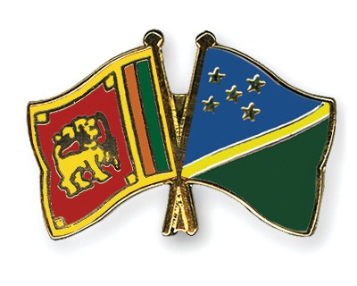 Crossed Flag Pins Sri-Lanka-Solomon-Islands