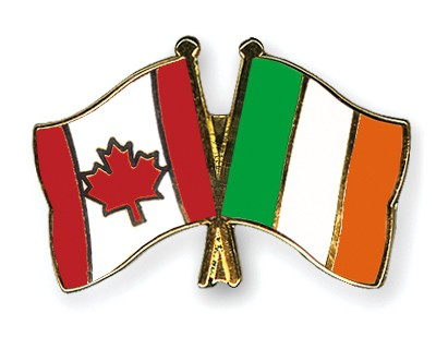 Special Offer Crossed Flag Pins Canada-Ireland