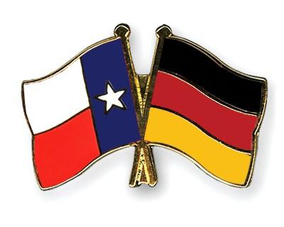 Crossed Flag Pins Texas-Germany